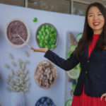 USANA associate Jane Meng and the company's Sydney HQ