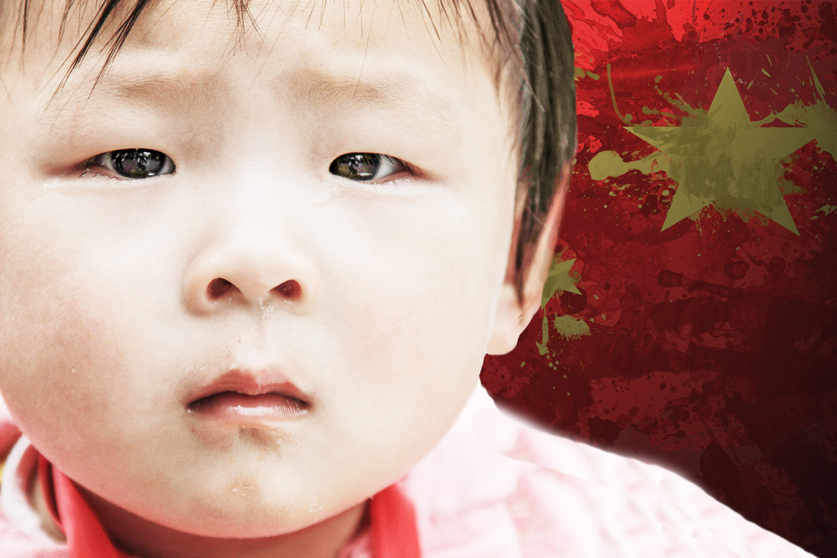 APAC News Chinese Baby with China Flag Background